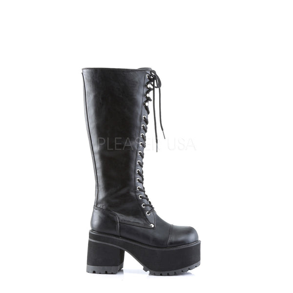 DEMONIA RANGER-302 Men's Black Pu Vegan Boots - Shoecup.com - 3