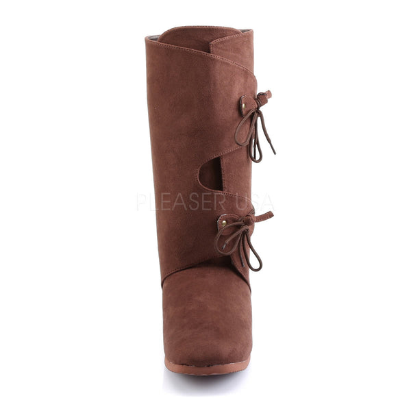 Men's Brown Microfiber Renaissance Medieval Pirate Boots