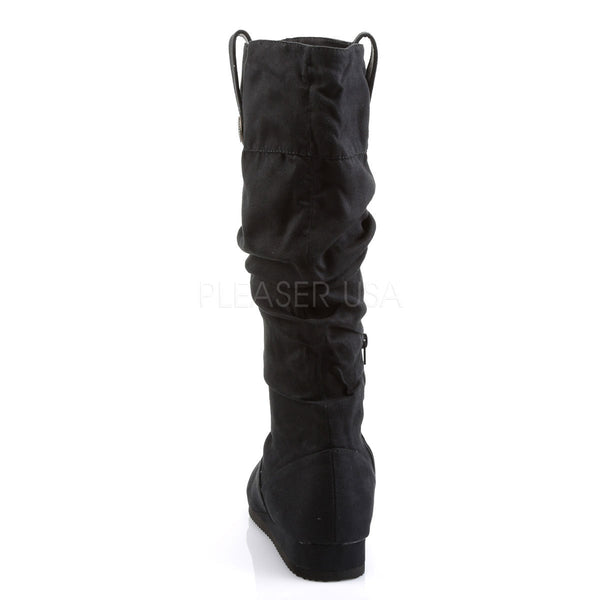 Men's Black Microfiber Renaissance Medieval Pirate Boots