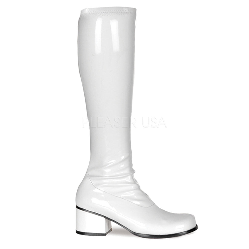 FUNTASMA RETRO-300 White Stretch Pat Gogo Boots