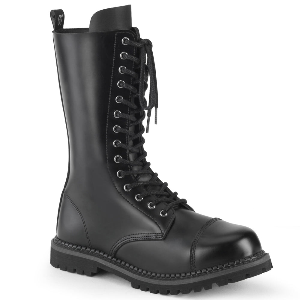 14 Eyelet RIOT-14 Black Leather
