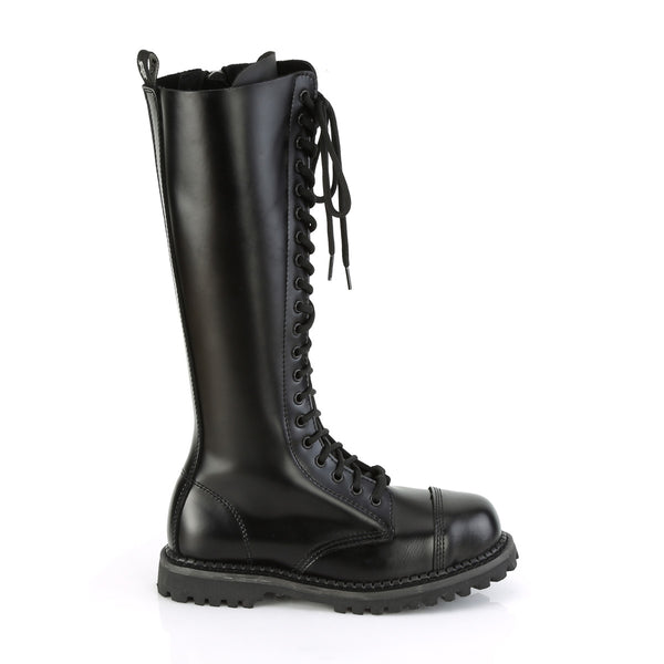 20 Eyelet RIOT-20 Black Leather