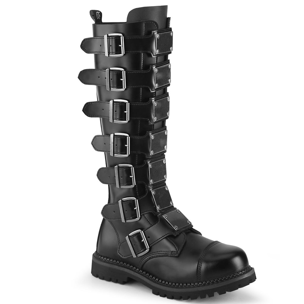 7 Buckles RIOT-21MP Black Leather