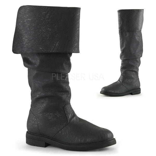 Men's Black Renaissance Medieval Pirate Boots - Shoecup.com