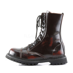 DEMONIA ROCKY-10 Men's Burgundy Rub-Off Leather Steel Toe Boots - Shoecup.com - 2