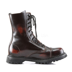 DEMONIA ROCKY-10 Men's Burgundy Rub-Off Leather Steel Toe Boots - Shoecup.com - 3