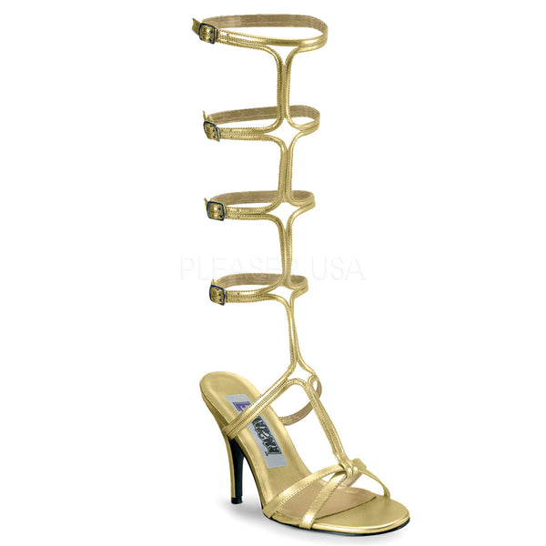 FUNTASMA ROMAN-10 Gold Pu Roman Sandals - Shoecup.com
