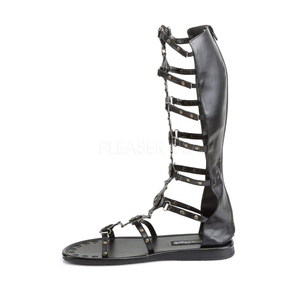 Men's Black Roman Gladiator Spartan Sandals