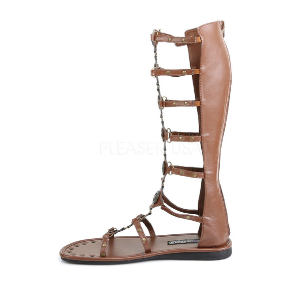 Men's Brown Roman Gladiator Spartan Sandals
