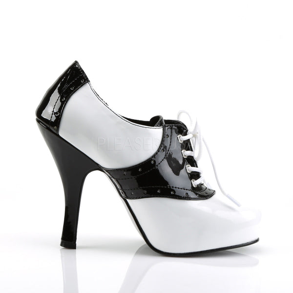 FUNTASMA SADDLE-48 Black-White Pat Saddle Shoes
