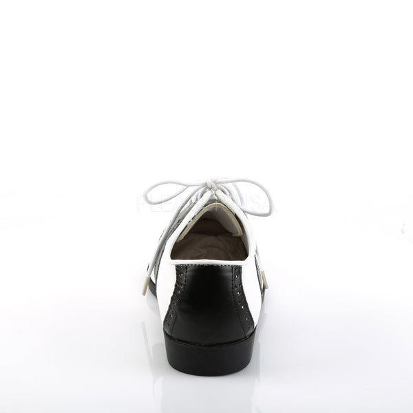 FUNTASMA SADDLE-50 Black-White Pu Retro Shoes