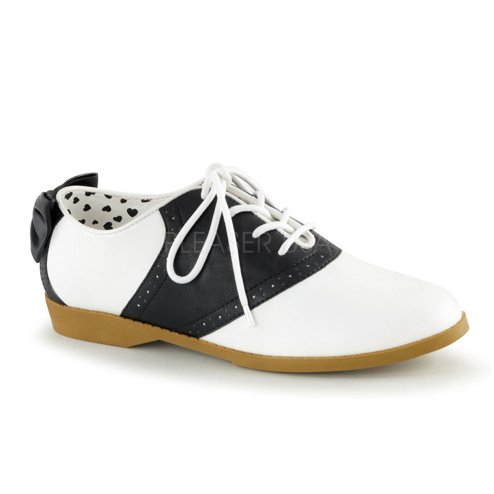 Funtasma SADDLE-53 Black and White Retro Saddle Shoes
