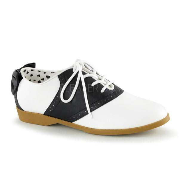 Funtasma SADDLE-53 Black and White Retro Saddle Shoes - Shoecup.com - 1