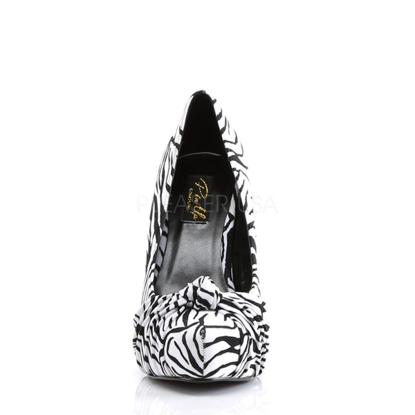 PINUP COUTURE SAFARI-06 Black-White Zebra Print Velvet Platform Pumps - Shoecup.com - 4
