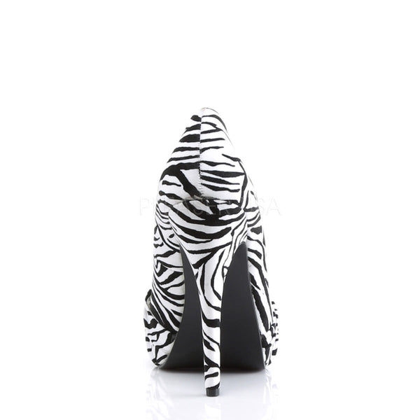 PINUP COUTURE SAFARI-06 Black-White Zebra Print Velvet Platform Pumps - Shoecup.com - 5