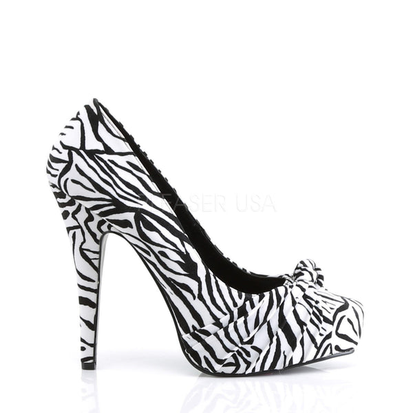 PINUP COUTURE SAFARI-06 Black-White Zebra Print Velvet Platform Pumps - Shoecup.com - 3