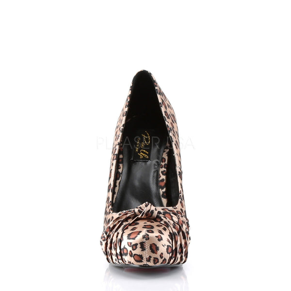 PINUP COUTURE SAFARI-06 Tan Leopard Print Satin Platform Pumps - Shoecup.com - 4