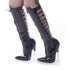 Devious,DEVIOUS SCREAM-2027 Black Pat Knee High Boots - Shoecup.com