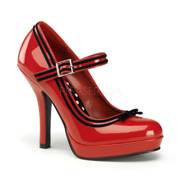 5564b7b8067 Pin Up Couture SECRET-15 Red Patent Mary Jane Pumps - Shoecup.com -