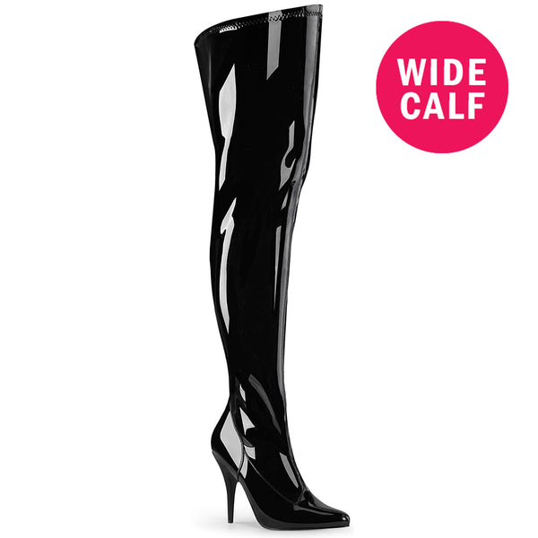 "5"" Heel SEDUCE-3000WC Black Pat (Wide Calf)"