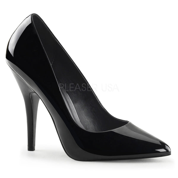 c5cea706b27 Pleaser SEDUCE-420 Black Patent Classic Pumps