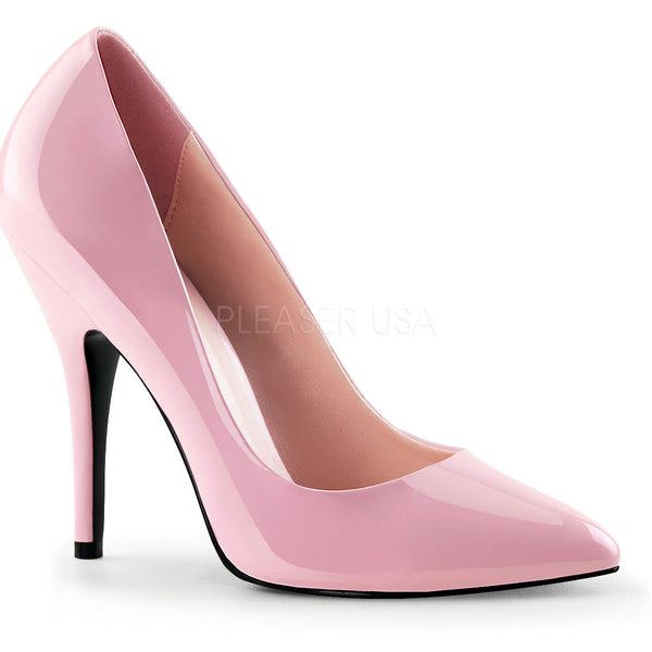 Pleaser SEDUCE-420 Baby Pink Patent Classic Pumps - Shoecup.com