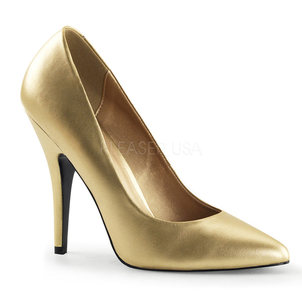 Pleaser SEDUCE-420 Gold Pu Classic Pumps - Shoecup.com
