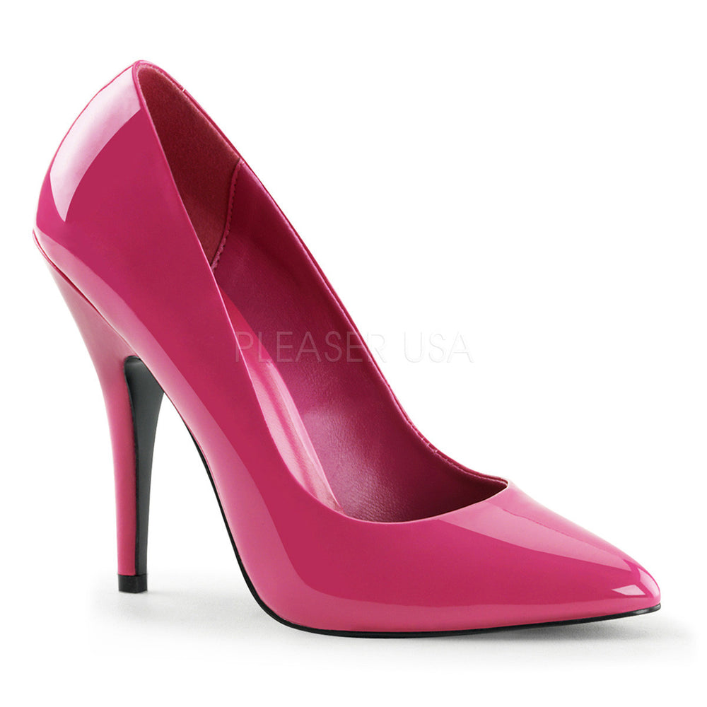 Pleaser SEDUCE-420 Hot Pink Patent Classic Pumps