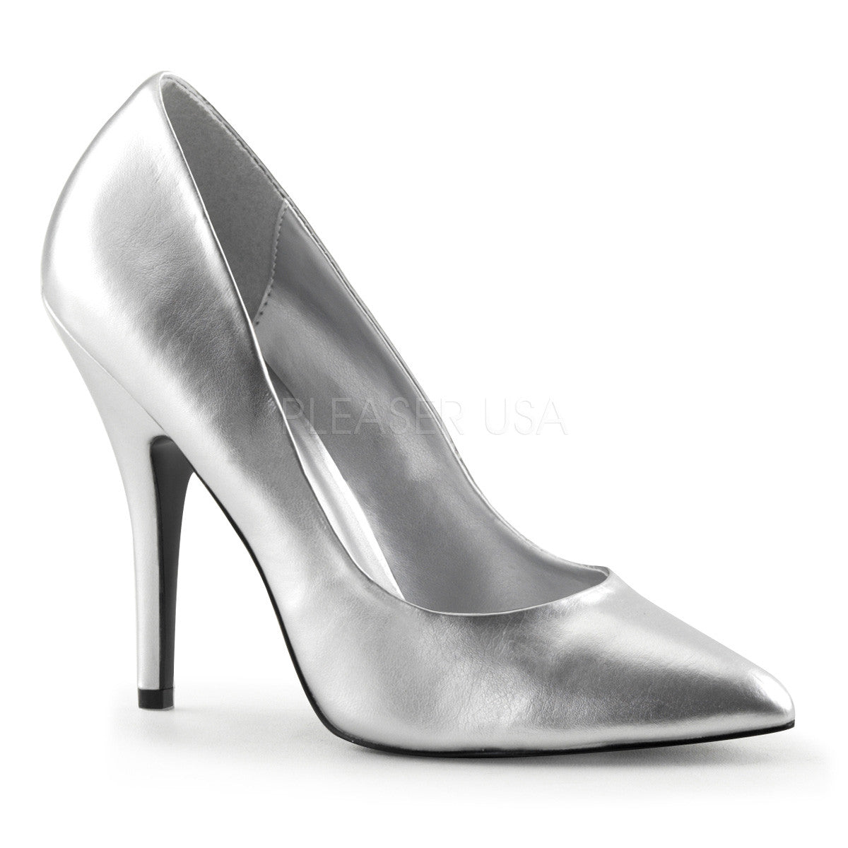 High Heels Pleaser 'VANITY-420' Silber-8 8