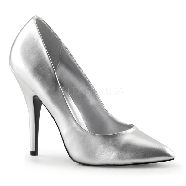 Pleaser SEDUCE-420 Silver Pu Classic Pumps