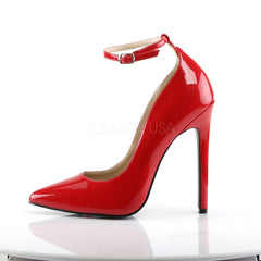 Pleaser SEXY-23 Red Patent Pointed Toe Pumps - Shoecup.com - 2