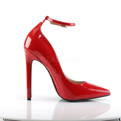 Pleaser SEXY-23 Red Patent Pointed Toe Pumps - Shoecup.com - 3