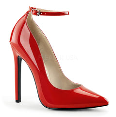 Pleaser SEXY-23 Red Patent Pointed Toe Pumps - Shoecup.com - 1