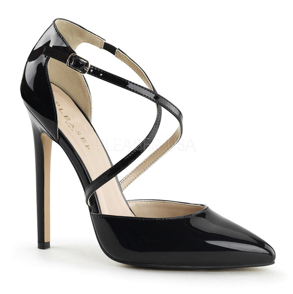 Pleaser SEXY-26 Black Patent d'Orsay Pointed Toe Pumps - Shoecup.com