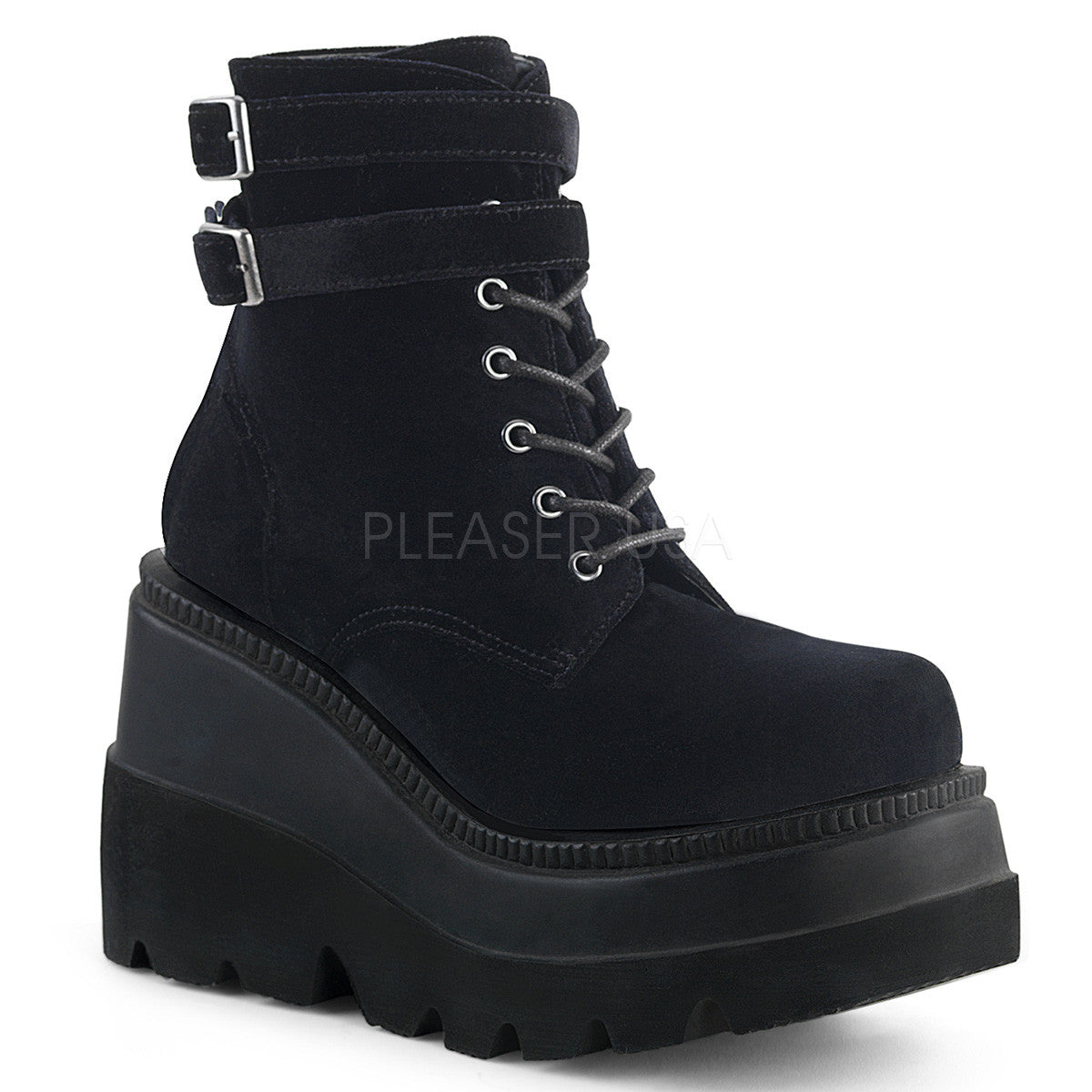 "4 1/2"" Wedge Platform Ankle Boot, Side Zip"