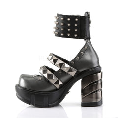 DEMONIA SINISTER-62 Dark Gray-Black Pu Platform - Shoecup.com - 2