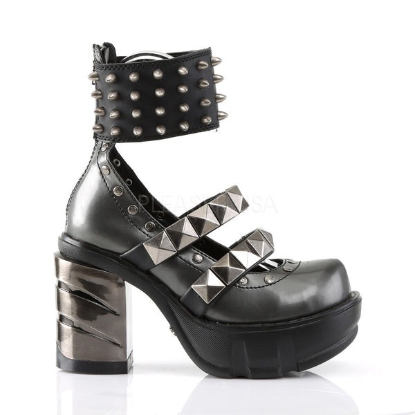 DEMONIA SINISTER-62 Dark Gray-Black Pu Platform - Shoecup.com - 3