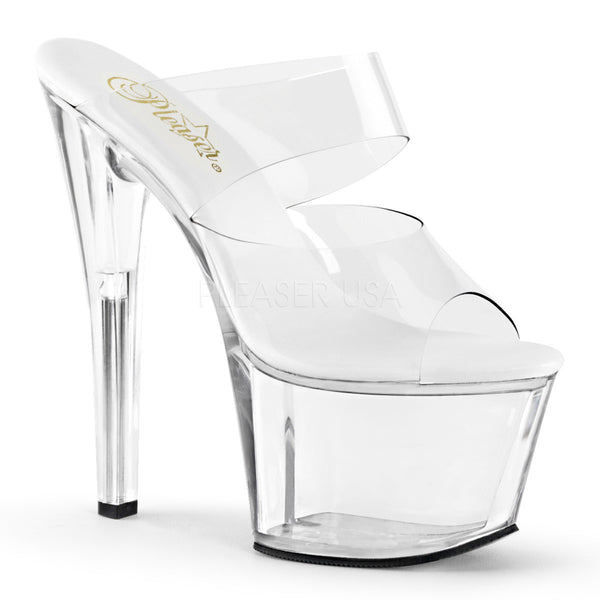 Pleaser SKY-302VL Clear Slides - Shoecup.com