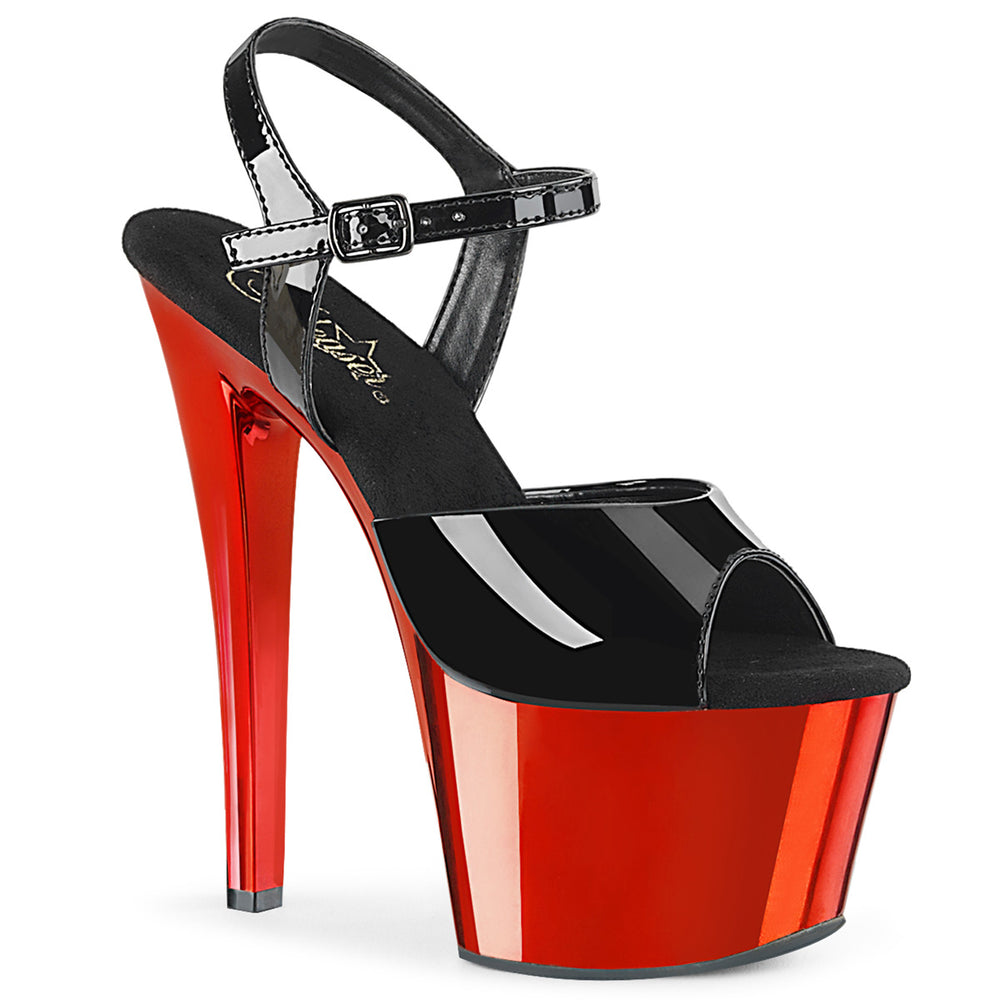 "7"" Heel SKY-309 Black Pat Red Chrome"