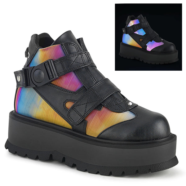 "2"" Platform SLACKER-32 Black Rainbow Reflective"