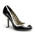 Pin Up Couture SMITTEN-01 Black-White Patent Pumps - Shoecup.com - 1