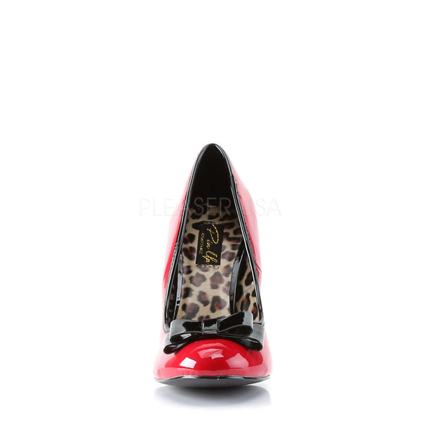 Pin Up Couture SMITTEN-01 Red-Black Patent Pumps - Shoecup.com - 4