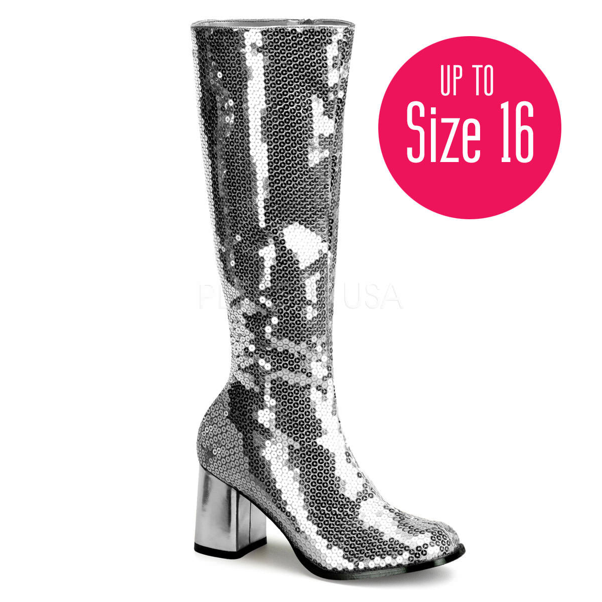 Bordello,Bordello SPECTACUL-300SQ Silver Sequins Bootie - Shoecup.com