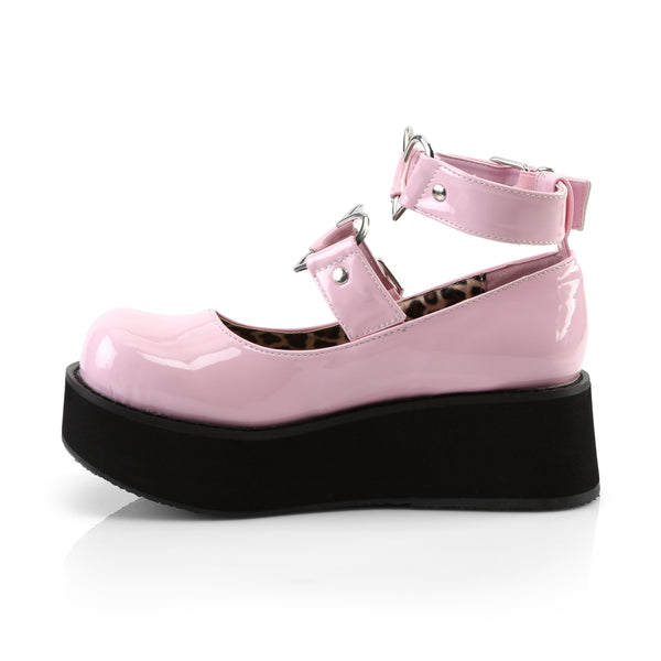 Demonia SPRITE-02 Baby Pink Patent Mary Jane - Shoecup.com - 2