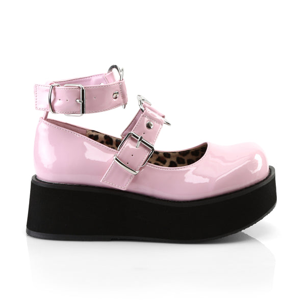 Demonia SPRITE-02 Baby Pink Patent Mary Jane - Shoecup.com - 3