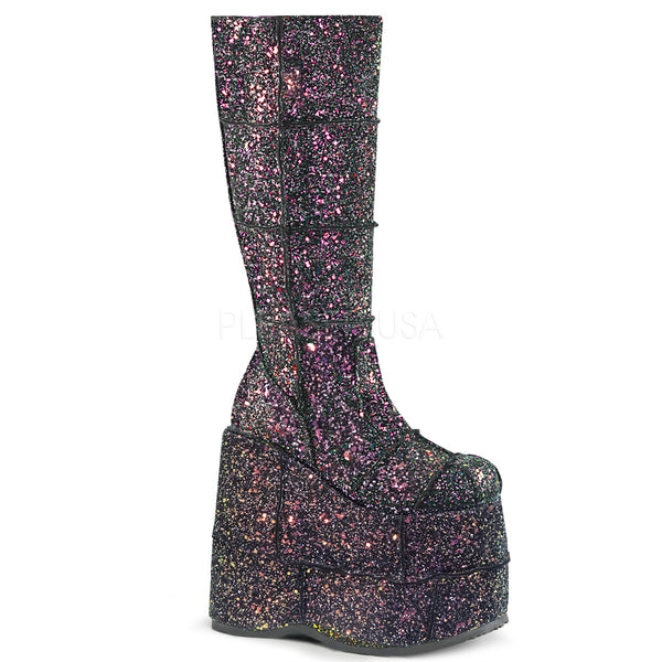 demonia-stack-301g-black-glitter