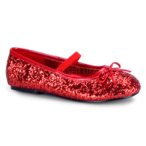 FUNTASMA STAR-16G Red Glitter Ballet Flat - Shoecup.com