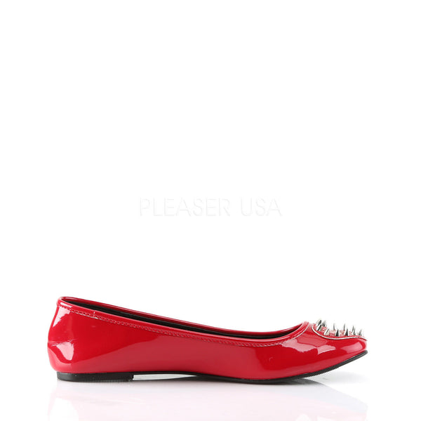Demonia STAR-24 Red Patent Flats - Shoecup.com - 5