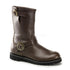 DEMONIA STEAM Men's Brown Leather Steampunk Boots - Shoecup.com