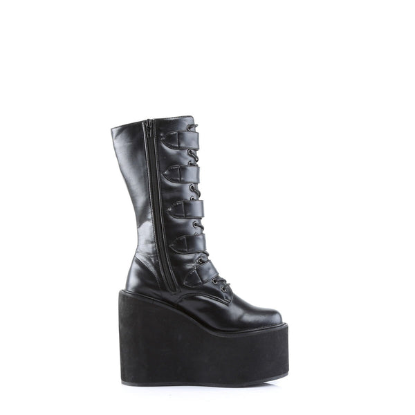DEMONIA SWING-220 Black Pu Vegan Boots - Shoecup.com - 5